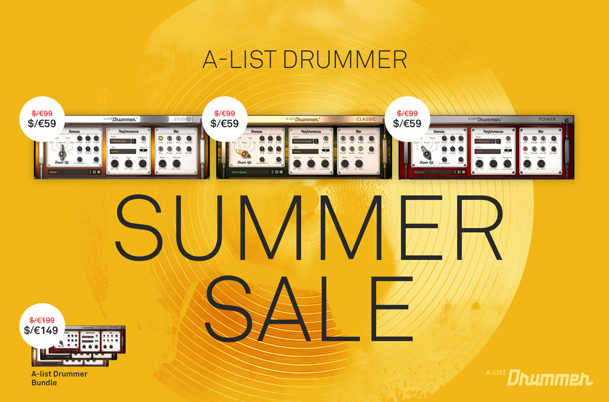 A-List Drummer Summer Sale. More drums for your summer jams.