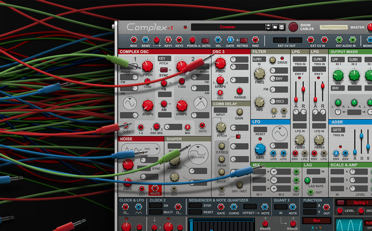 Dive into the weird and wonderful world of modular synthesis with Complex-1, a new Rack Extension instrument from Propellerhead Software.