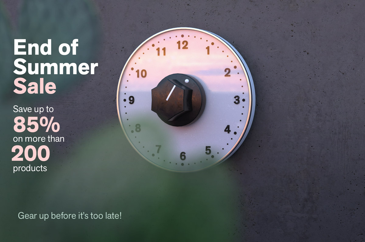 End of Summer Sale - Save up to 85% on more than 200 products