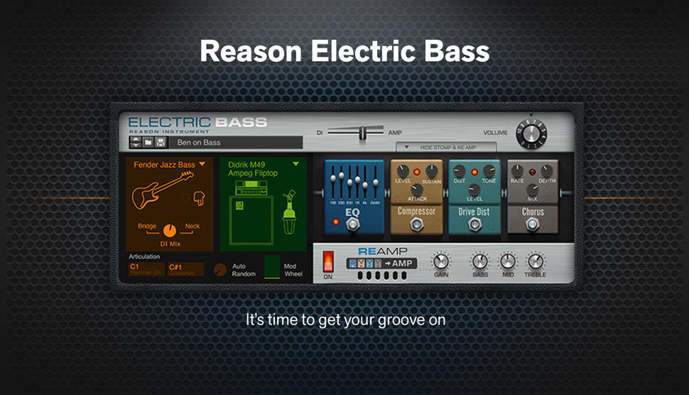 Introducing Reason Electric Bass Rack Extension