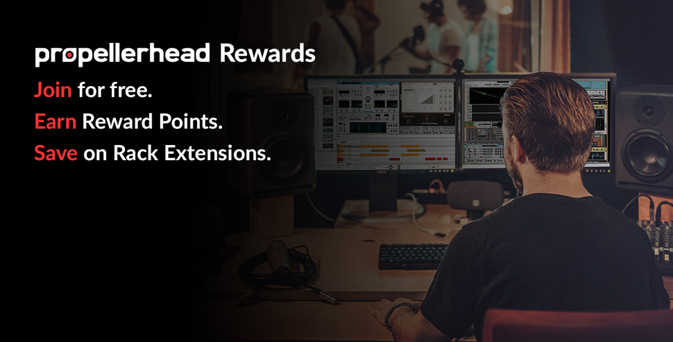 Propellerhead Rewards. Join for free and earn reward points.
