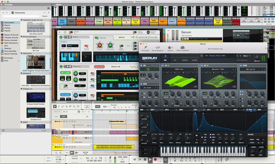 Reason 9.5 - VST in Reason