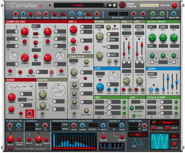Complex-1 modular synthesizer