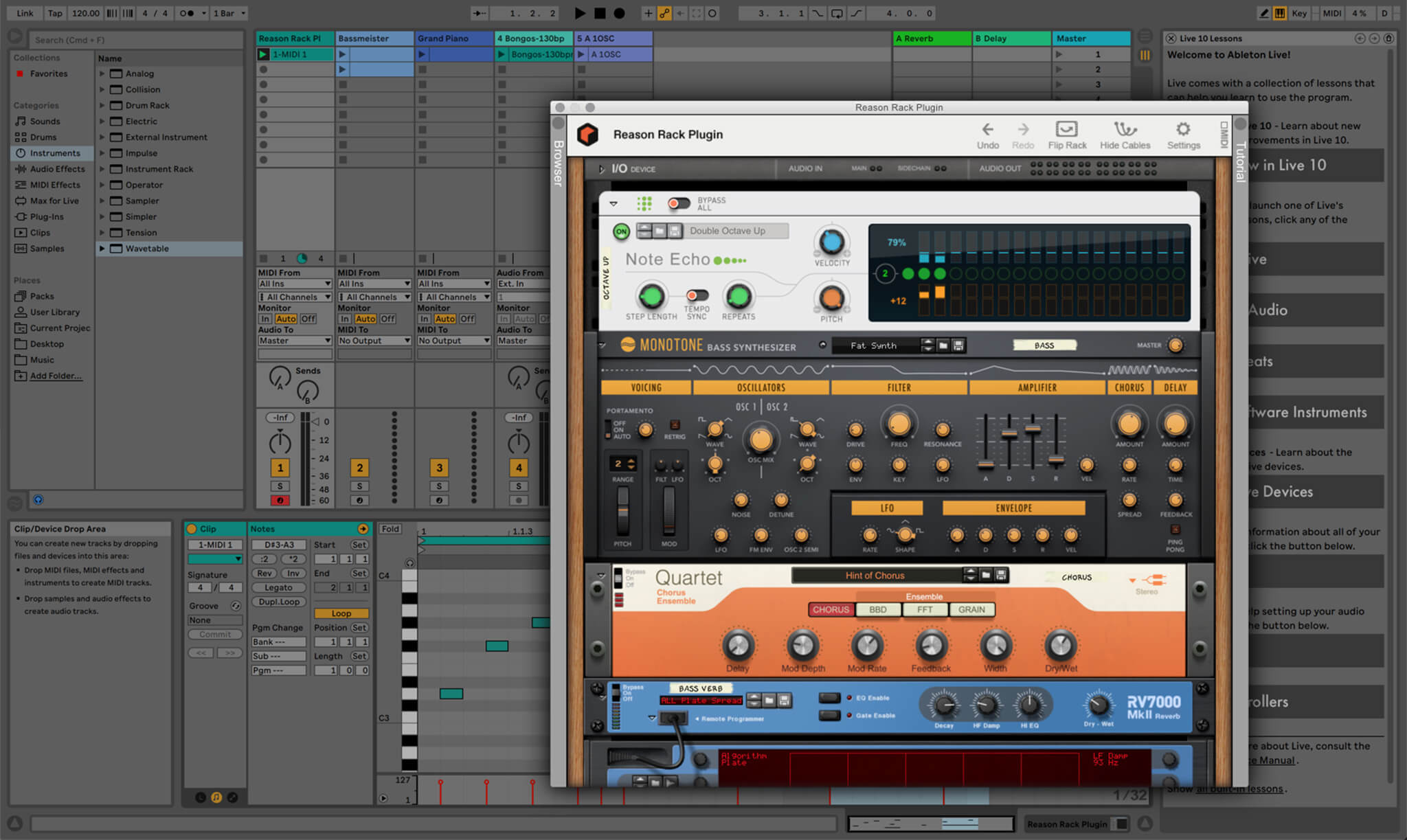 Reason Rack Plugin for Ableton Live