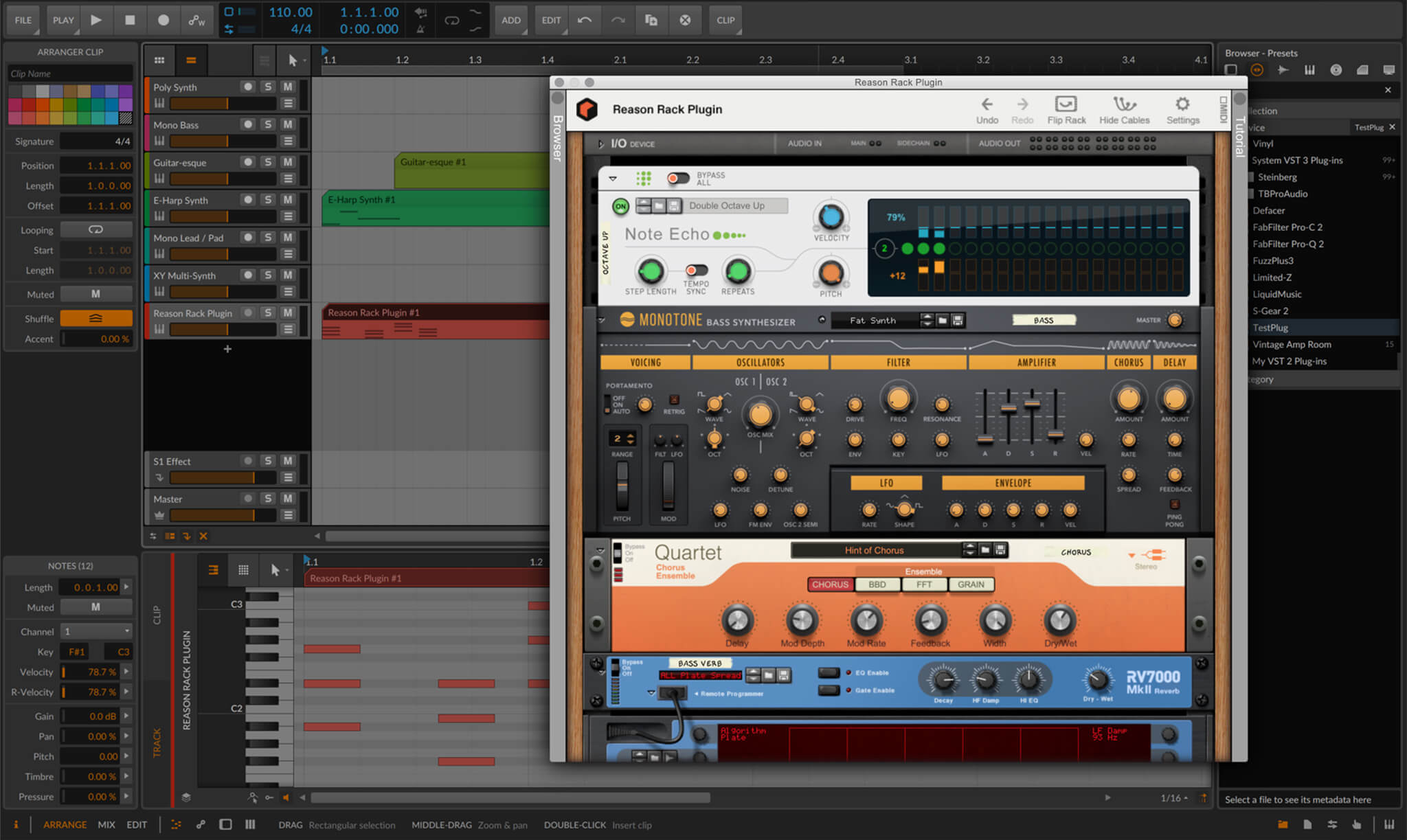 Reason Rack Plugin for Bitwig