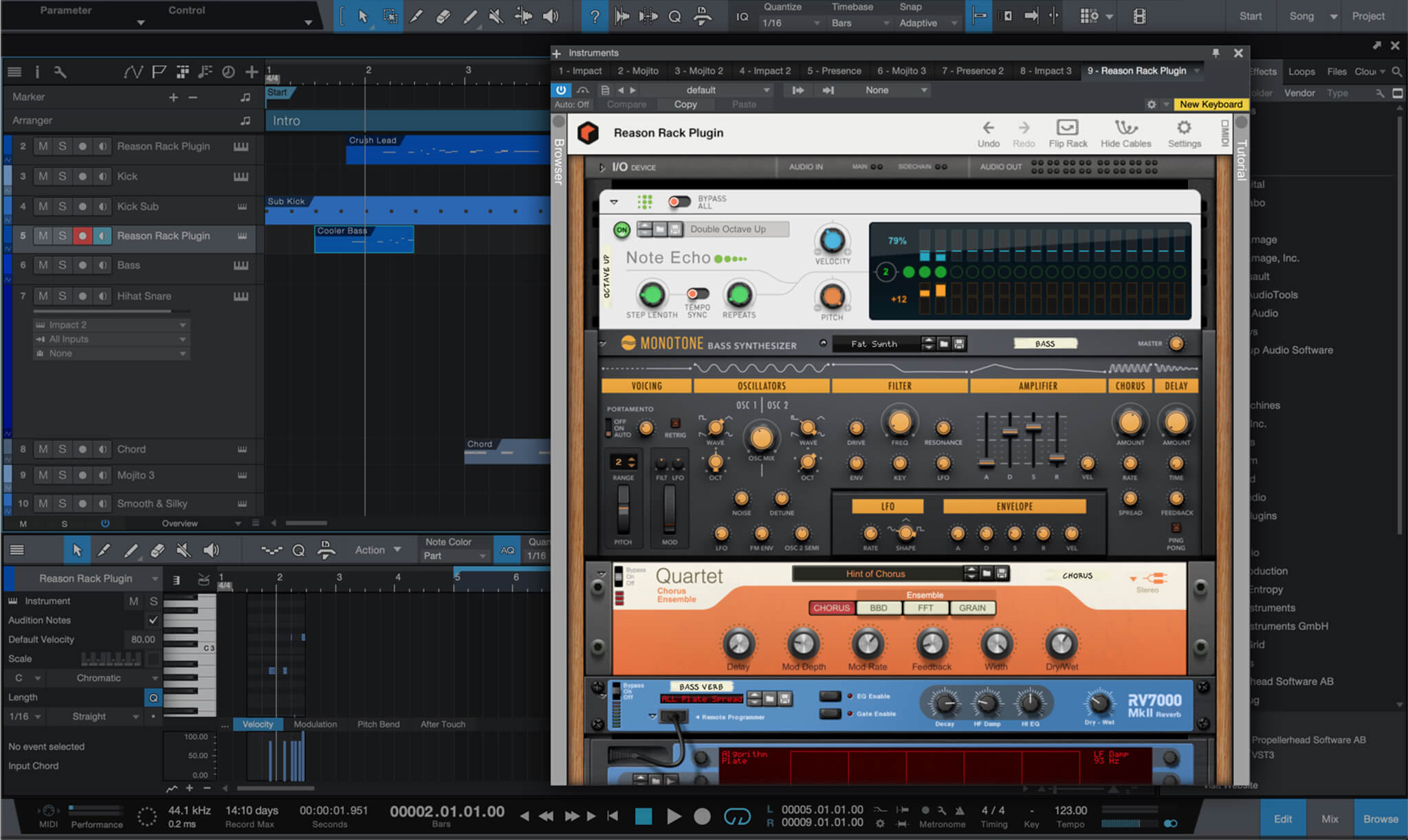 Reason Rack Plugin for Studio One