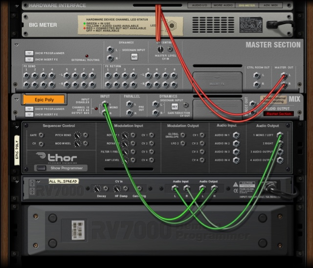 Image shows reasonably easy-to-grasp connection like synth LFO to mixer pan etc.