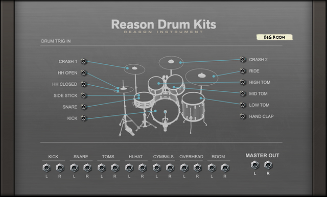 Reason Drum Kits RE - back side