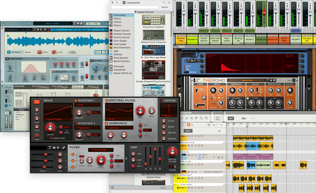 Reason S Interface Looks And Feels Like An Instrument Seamlessly Integrates With Your Favorite Hardware Controller Record Fader