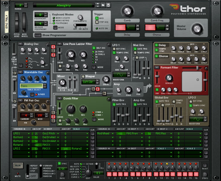 Thor Polysonic Synthesizer | Reason | Propellerhead