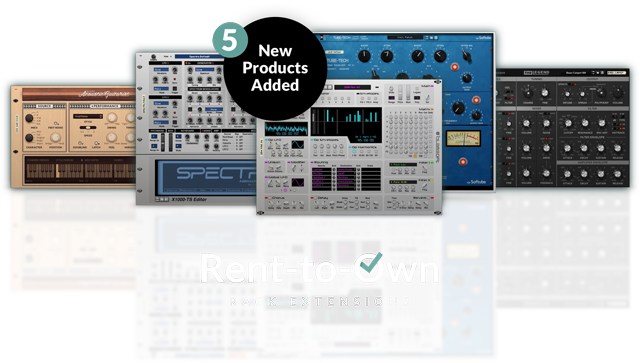 Rent-to-Own: a flexible, affordable way to expand your Reason Rack, for just $9.99/month